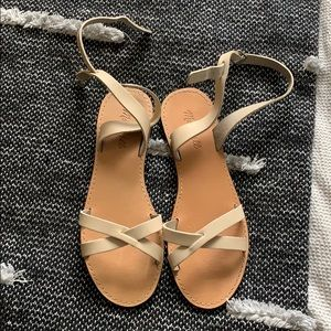Madewell size 9 cream sandals